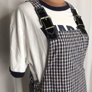 Vintage Check Jumper by Tickets Size Small Blue